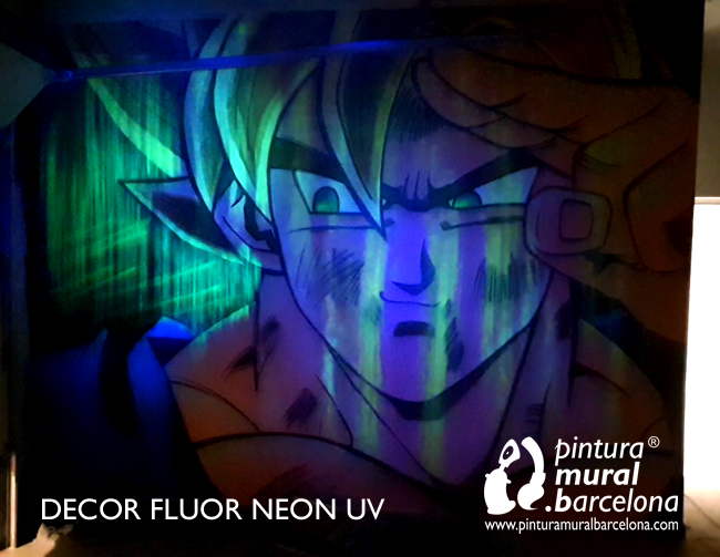 mural-graffiti-dragon-ball-goku-neon-fluor-uv