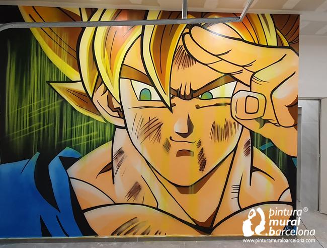 mural-graffiti-dragonball-goku-neon-fluor-uv
