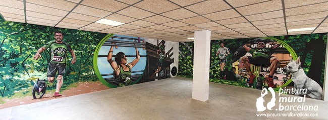 mural-graffiti-olllu-racers-spartan-training-painting