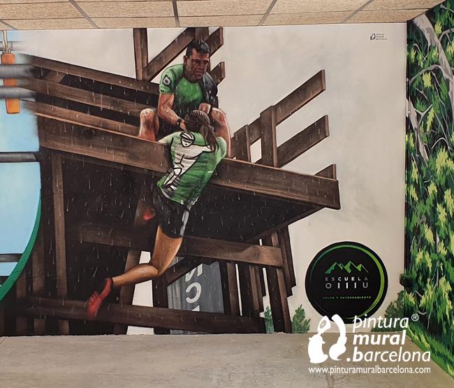 mural-graffiti-olllu-racers-spartan