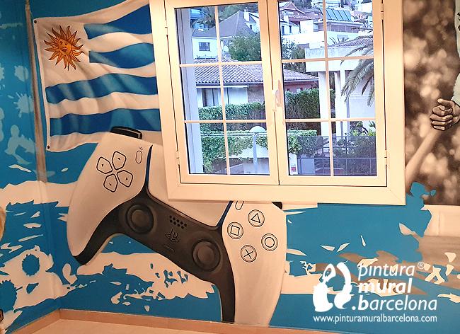 mural-pintado-graffiti-play-station-uruguay