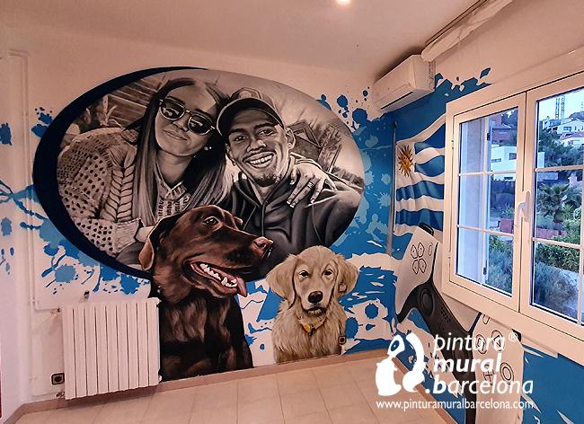 mural-pintado-graffiti-ronald-araujo-barça-perros