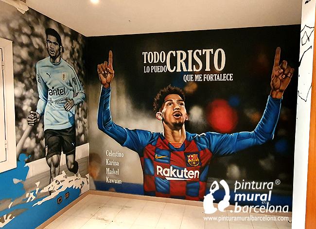 mural-pintado-graffiti-ronald-araujo-barça-uruguay