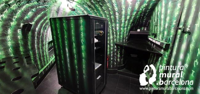 mural-tematico-neon-fluor-uv-matrix-hacker