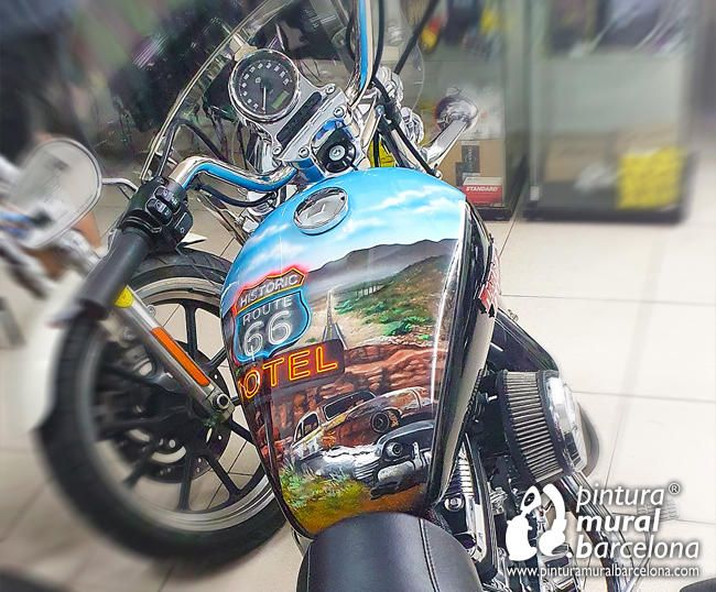 airbrush-moto-harley-davidson-route66