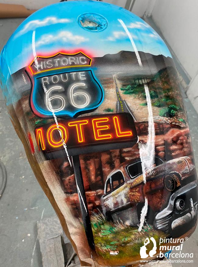 deposito-pintado-harley-davidson-ruta-66