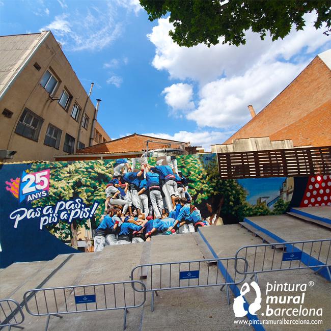 mural-graffiti-capgrossos-castellers-mataro-colla